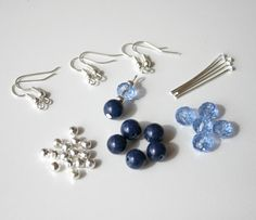 New to MillingtonsGifts on Etsy: Make Your Own Gemstone and Swarovski Earrings Craft Kit (4.95 GBP)