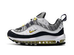 Nike Air Max 98 Tour Yellow 2018 640744 105 Tour Yellow Midnight Navy Shoe 03afaf2b585