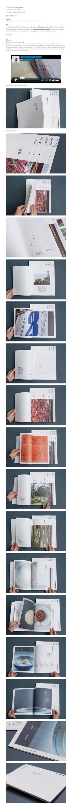 """Seasons In Singapore (Editorial) """"this editorial explores the   intimate relationship   between food and seasons""""  (Book & Calendar)"""