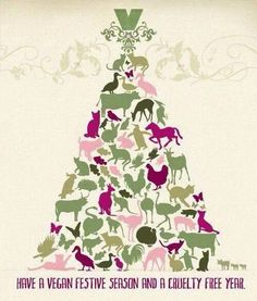 MERRY VEGAN CHRISTMAS. My grownup Christmas wish is that no animals or humans will suffer at the hands of ignorant, selfish humans.