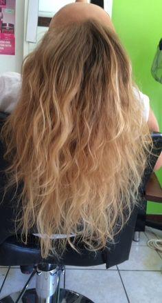 curly blond beach hair
