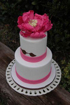 Styrofoam dummy cake decorated with fondant and a gumpaste peony Cake Decorating With Fondant, Cake Decorating Classes, Dummy Cake, Cake Show, Gum Paste, Desserts, Cakes, Peony, Tailgate Desserts