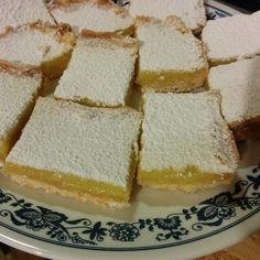 When your grandmother hands you lemons, make lemon bars.  (Recipe from Cook's Illustrated)