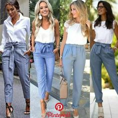 Bow pants and high waisted pants styling ideas – Just Trendy Girls - Summer Outfits Casual Summer Outfits, Classy Outfits, Chic Outfits, Fall Outfits, Fashion Outfits, Halloween Outfits, Summer Outfits For Work Business, Summer Pants Outfits, Spring Outfits Women