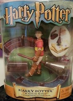 Magical Minis Harry Potter Figure with Broom Collection MIB #harrypotter #potterhead #collectibles #hogwarts