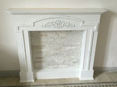 Change our faux fire place to this maybe. Fireplace Mantel Decor, Shabby Chic Fireplace, Apartment Decor, Fireplace Bookcase, Fireplace Entertainment Center, Furniture Makeover, Fireplace, Fireplace Wall, Apartment Decorating Living