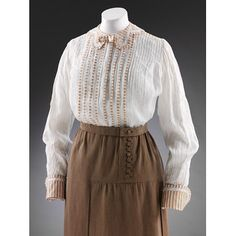 Blouse, 1910, linen-- V & A museum-- I don't love the shape, but I do love the colors, and I also love the skirt.