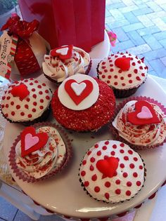 Valentine's Cupcakes Red Fancy