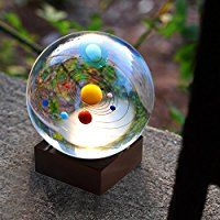 Solar System Crystal Ball with Wood Stand, Planet Balls for Astronomer, Lover of Space, Kids and Student: Toys & Games Resin Crafts, Resin Art, Crystal Ball, Clear Crystal, Solar Planet, Bubble Tea, Glass Ball, Novelty Gifts, Woodworking Crafts
