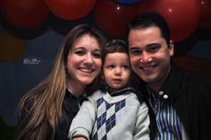 Leonardo, com os pais