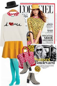 """""""Polka Dotted"""" by houseofhauteness ❤ liked on Polyvore"""