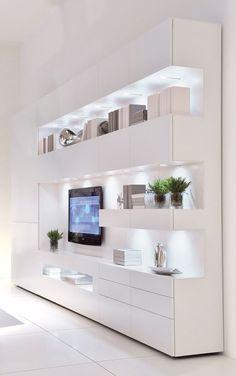 Living Room Wall Units, Living Room Tv Unit Designs, Home Living Room, Living Room Decor, Home Room Design, Home Interior Design, House Rooms, Room Interior, Home Decor