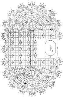 Crochet Art: Crochet Lace Doily - Beautiful Oval Doily ❤️LCD-MRS❤️ with diagram Crochet Doily Diagram, Crochet Lace Edging, Crochet Doily Patterns, Crochet Mandala, Thread Crochet, Filet Crochet, Crochet Designs, Crochet Shawl, Crochet Table Runner