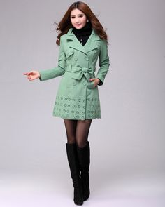Korean Fashion Plus Size Comfortable Coat (With Tie And Belt)