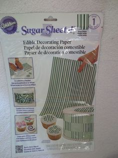 Wilton Icing Sugar Sheet Color Green Stripes Cake Decorating New Wilton Icing, Piping Icing, Fondant Icing, Wilton Cakes, Fondant Cakes, Wilton Cake Decorating, Cake Decorating Tools, Sheet Cakes Decorated, Colors