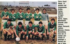 Ferro Carril Oeste of Argentina team group in 1983.