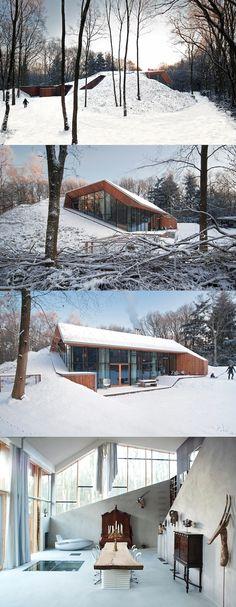 Dutch Mountain House, The Netherlands, http://www.denieuwegeneratie.nu/built/underground-house/
