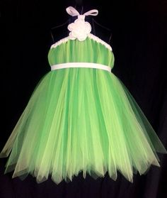 Tinkerbell Fairy Tutu Dress Infant Toddler 6 12 by OhHoneyBowtique, $55.00