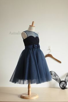 Navy Blue Tulle Chiffon Flower Girl Dress Infant by autoalive. LOVE this dress for my flower girl!!