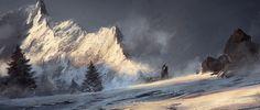 ArtStation - Through the Mountains, Grzegorz Rutkowski