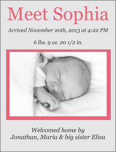 Meet Ms. Sophia!! We'd love to help you introduce your little one to the world!!