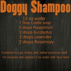 Young Living Essential Oils Dog Shampoo chemical free