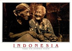 INDONESIA (Java) - A Happy Old Javanese Couple