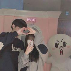 Hi Boy, Boy Or Girl, Korean Couple, Korean Girl, Cute Couples Goals, Couple Goals, You Are My Everything, Ulzzang Couple, Friendship