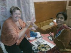 Laxmi (Jaipur, India) and Adele (Paris, Ontario Canada)....Sisters in Spirit. ...sharing a meal.