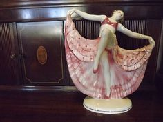 $399.00 Art Deco Hertwig & Co Katzhutte Lady Porcelain Figurine Germany Wien Keramos