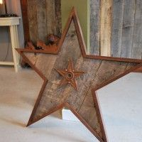 Star Shaped Pallet Wood Wall Art
