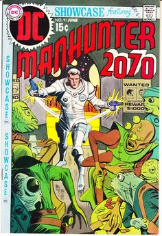 Showcase 91 and 92 Lot Run Set of DC Comics Presents 1st Manhunter 2070 Outer Space Aliens 1970 FN/VF by LifeofComics #comicbook