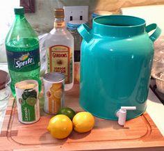 borrowed heaven: Summertime Gin Bucket..I use country time lemon aide..