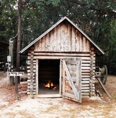 Smokehouse - love the smell of meats smoking, especially pork products & especially with hickory