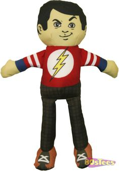 Pack up Sheldon and take him with you every where! This Sheldon Cooper Plush Doll is based on the physicist character portrayed by Jim Parsons on The Big Bang Theory. The doll stands 11 inches tall.