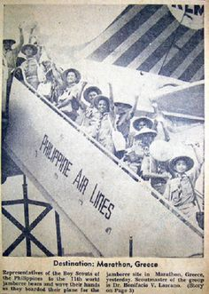 The last photo of the 24 Filipino boy scouts and scout officials en route to Athens, Greece for the World Jamboree. Jose Rizal, Philippines Culture, Haunting Photos, Filipiniana, Arabian Sea, Boy Photos, My Heritage, Boy Scouts, Manila