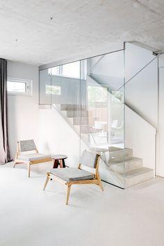 Studio Loft Kolasiński designed the interior of this new home, by Eike Becker Architekten, in Berlin's Prenzlauer Berg district
