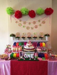 Awesome Strawberry Shortcake Birthday Party!  See more party ideas at CatchMyParty.com!
