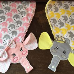Nipple Door Pacifier Elephant on Baby Embroidery, Embroidery Designs, Baby Crafts, Diy And Crafts, Bib Pattern, Patchwork Baby, Baby Store, Baby Sewing, Baby Elephant