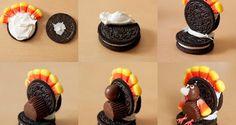 Postres para Acción de Gracias: Pavos de Oreo