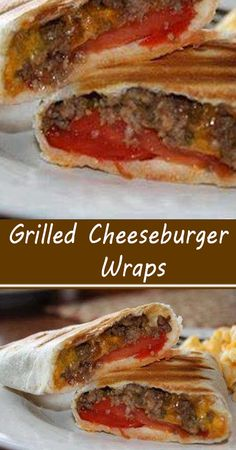Grilling Recipes, Meat Recipes, Mexican Food Recipes, Cooking Recipes, Panini Recipes, Beef Dishes, Food Dishes, Cheeseburger Wraps, Sandwiches