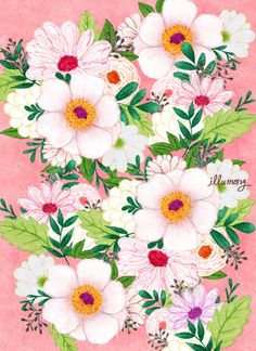 flower illust by illustrator illumong