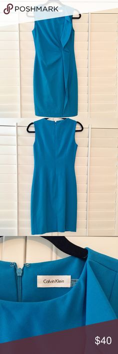 Calvin Klein Career Dress Beautiful Calvin Klein career dress. Super trendy and girly. Size 2. Shell: 63% polyester, 33% rayon, 4% spandex. Lining: 100% polyester. Worn once in excellent condition. Calvin Klein Dresses Midi