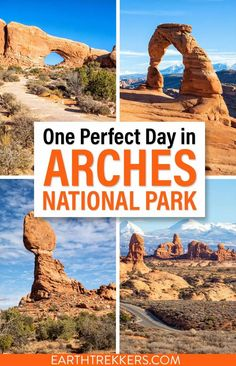 One day in Arches National Park: a complete itinerary. Learn how to maximize your time, avoid the crowds, and take the best photos. How to hike Delicate Arch, see Landscape Arch, and so much more. #archesnationalpark #nationalpark #travel National Park Camping, National Parks Usa, Delicate Arch, Amazing Adventures, Cool Places To Visit, Best Places To Travel, Travel Usa, State Parks, Utah Hikes