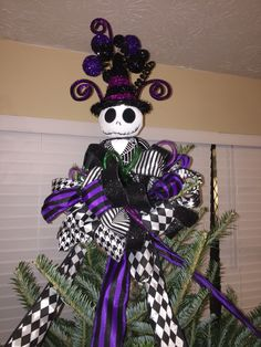 A personal favorite from my Etsy shop https://www.etsy.com/listing/482129256/reserved-for-tommy-jack-skellington-tree