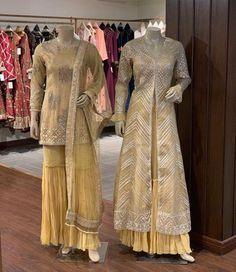 Beautiful Dresses in Kurti-Sharara and jacket-plazo style. Beautiful Dresses in Kurti-Sharara and jacket-plazo style. Kebaya Muslim, Dress Brokat Muslim, Kebaya Hijab, Kebaya Dress, Dress Pesta, Muslim Dress, Batik Fashion, Abaya Fashion, Modest Fashion