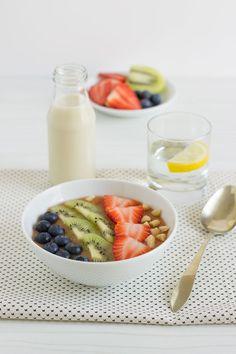 Smoothie bowl de papaya y plátano