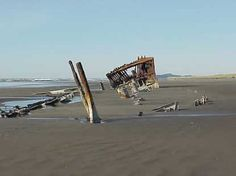 The wreck of the Peter Iredale, Fort Stevens State Park, Oregon -  Oh how the sands of time are burying it!!!