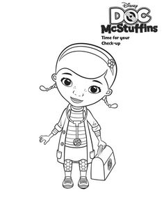 Doc McStuffins Coloring Pages | Here: Home Doc McStuffins Cute Doc McStuffins Coloring Page