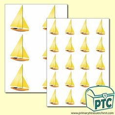 Yacht Themed Big and Small Sheets - Primary Treasure Chest
